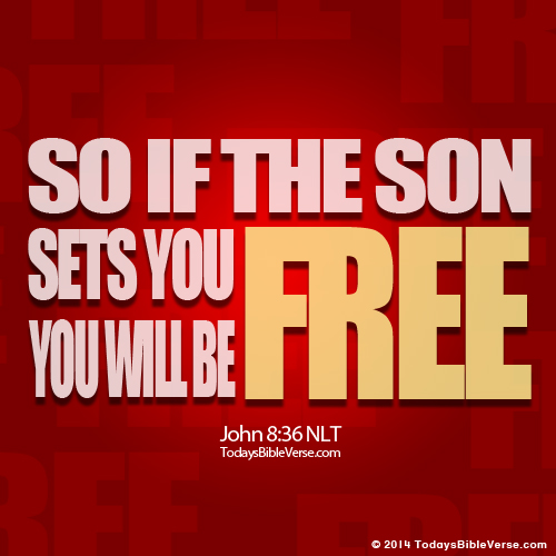 Son Sets Free Bible Verse