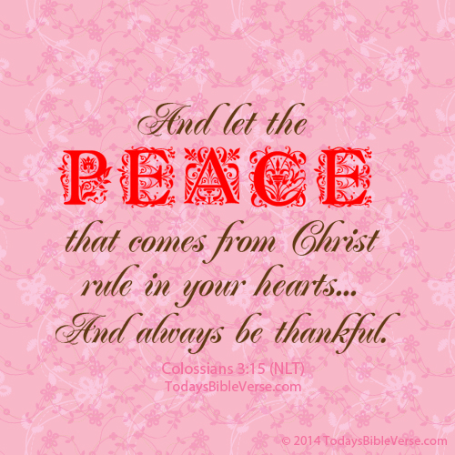 Let Peace of Christ Rule